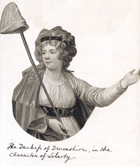 Duchess of Devonshire in the Character of Liberty, c 1790?