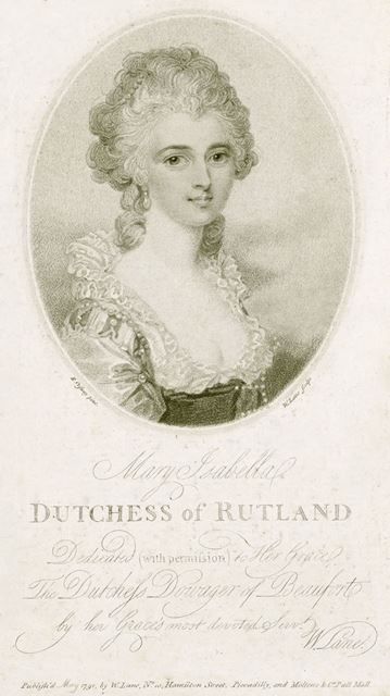 Mary Isabella Manners (nee Somerset), Wife of 4th Duke of Rutland (1756-1831), c 1791