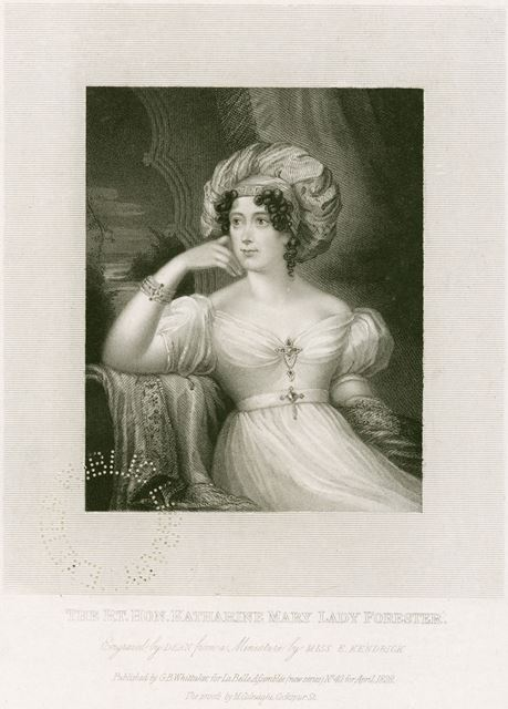 Lady Katherine Mary Forester (nee Manners) 1779-1829 , 1828