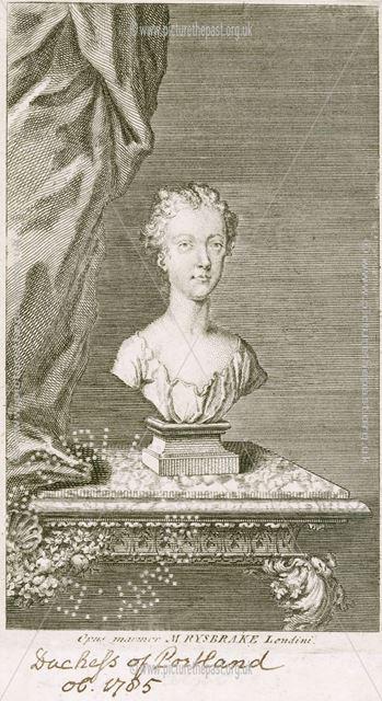 Bust Margaret Cavendish Bentinck, Duchess of Portland (1715-1785), 1727