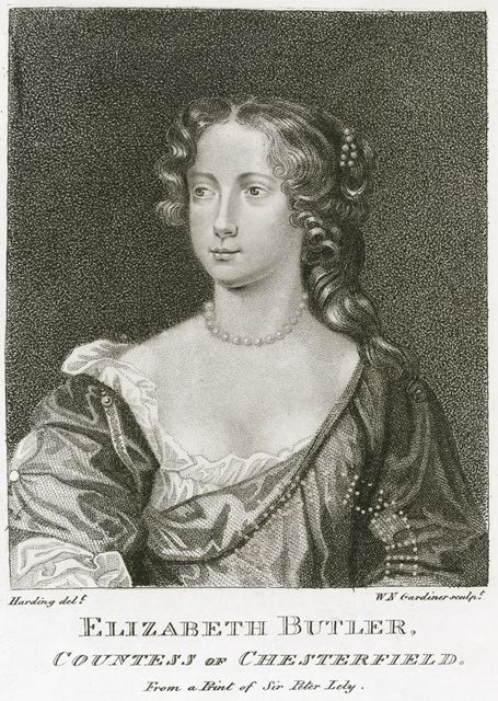 Lady Elizabeth Butler (1640-1665), Countess of Chestefield