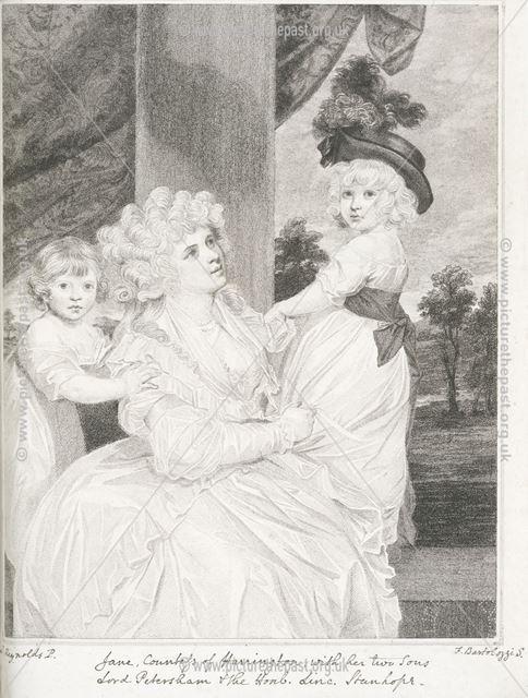 Jane Stanhope, Countess of Harrington (1755-1824), c 1784-87