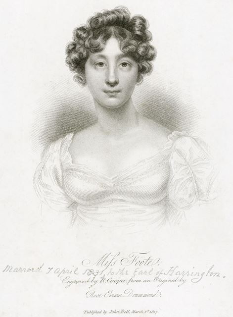 Miss Maria Foote (c 1797-1867) Later Countess of Harrington, 1817