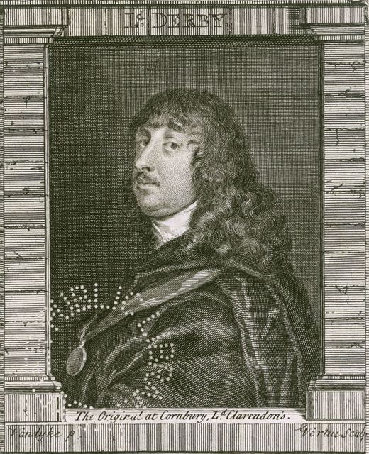 Lord James Stanley, 7th Earl of Derby (1607-1651), c 1640s