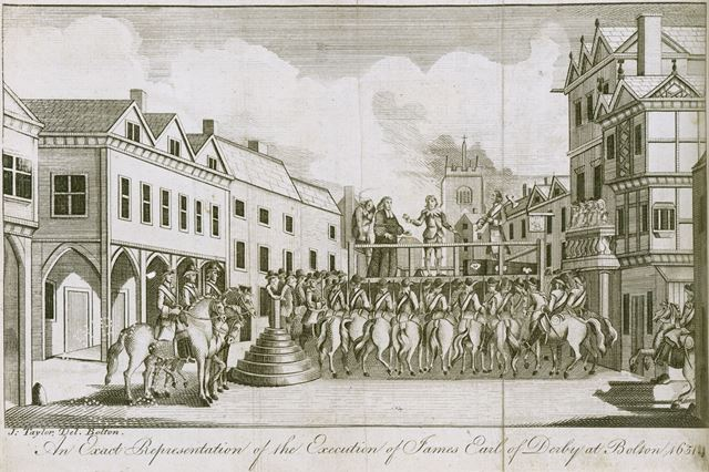 The Execution of Lord James Stanley, 7th Earl of Derby in Bolton, 1651