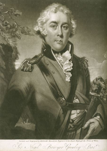 Sir Nigel Bowyer Gresley Bart (c 1755-1808) 7th Baronet of Drakelow Hall, c 1790s ?
