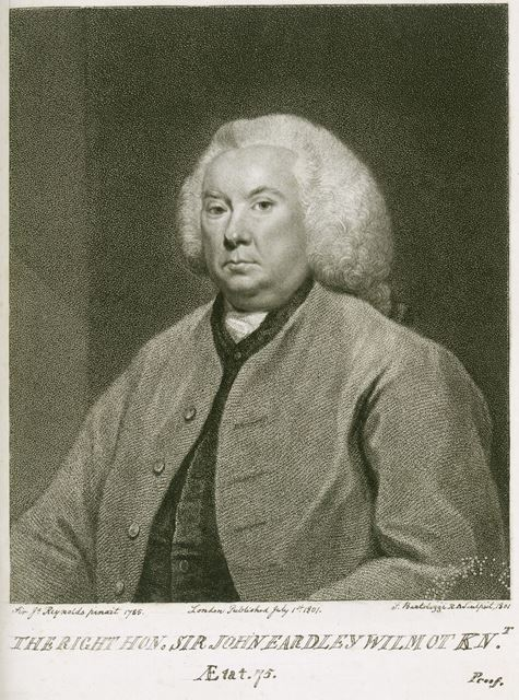Sir John Eadley Wilmot, Judge, (1709-1792), Osmaston, Derby, 1785