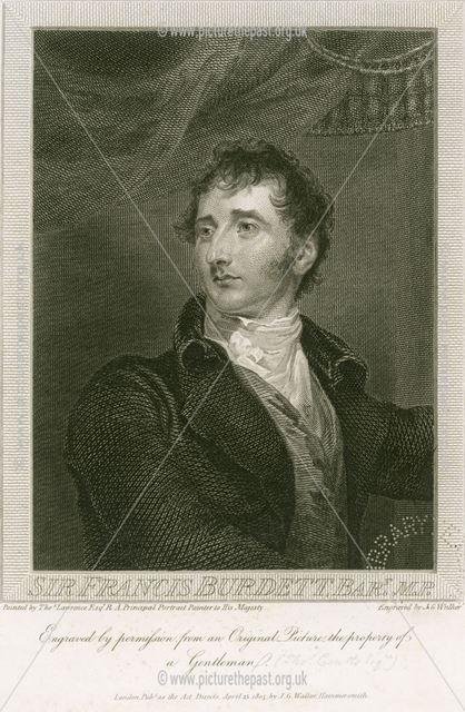 Sir Francis Burdett 5th Baronet, Politician, (1770û1844), Foremark, Repton, 1811