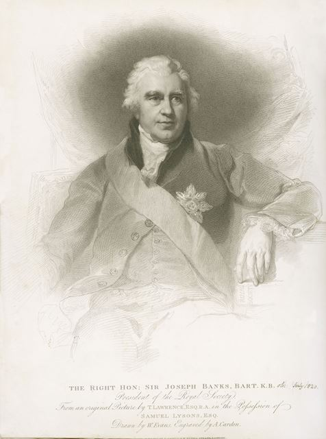 Sir Joseph Banks, Bart (1743-1820), President of the Royal Society, Overton Hall, Ashover, c 1770s?