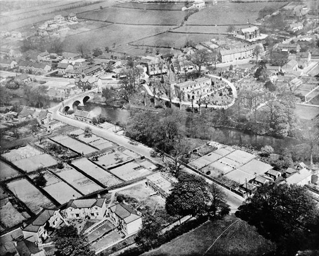Aerial view of Baslow, c 1910s?
