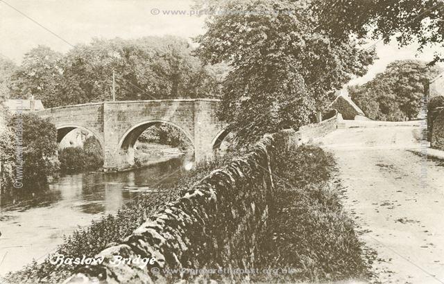 Baslow Bridge on the River Derwent, Baslow, c 1910s?