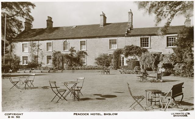 The Peacock Hotel (now called the Cavendish Hotel), Church Lane, Baslow, c 1920s?