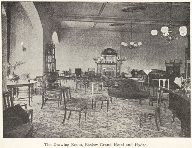 The Drawing Room, Grand Hotel and Hydro, Hydro Close, Baslow, c 1910s?