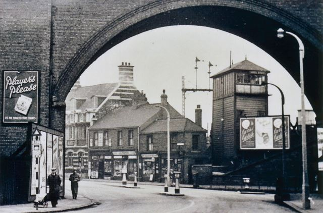 View through Horns Bridge, Derby Road, Chesterfield, c 1950?