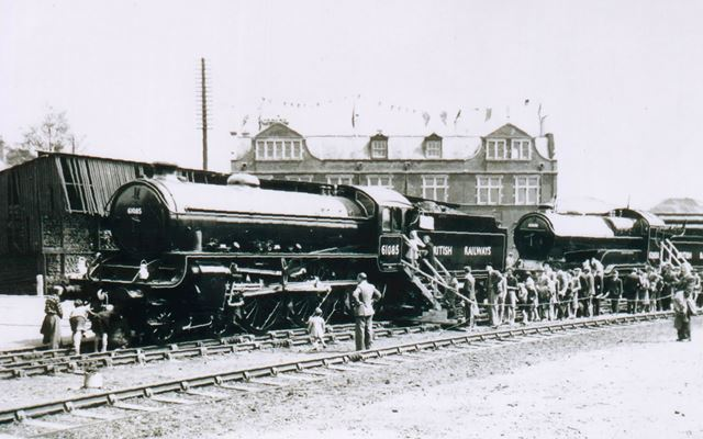George Stephenson Centenary Event, Market Place Station, Chesterfield, 1948