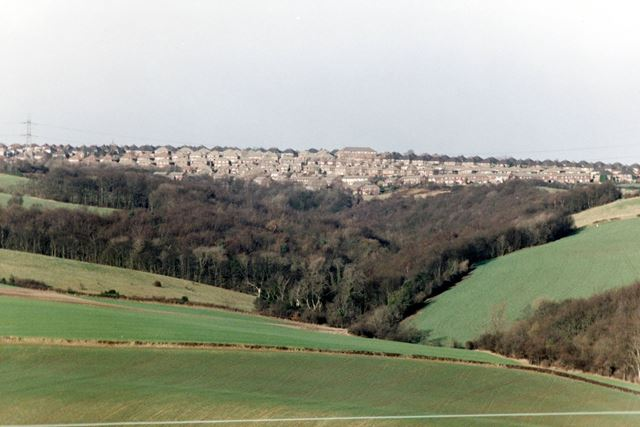 View of Mosborough from Moss Valley