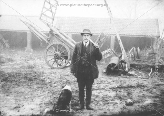 Bill Johnson, farmer at Hallowes, Dronfield