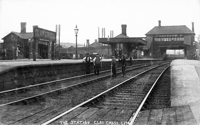 Clay Cross Station, Station New Road, Clay Cross, c 1900s