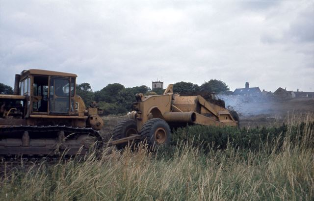 Digger on Site of Morrisons Supermaket, Barnfield Close, Staveley, c 1980s