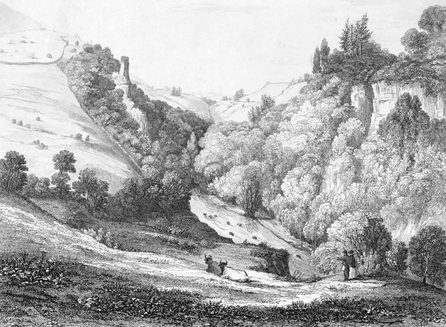 View on the River Wye, from the foot of Priestcliffe