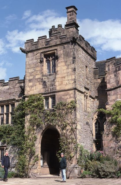Entrance to the Banqueting Hall, Haddon Hall, c 2002