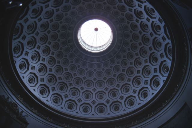 Saloon ceiling, Kedleston Hall, c 1987