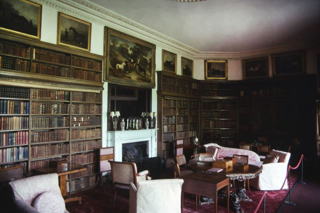 Library, Calke Abbey, c 1995