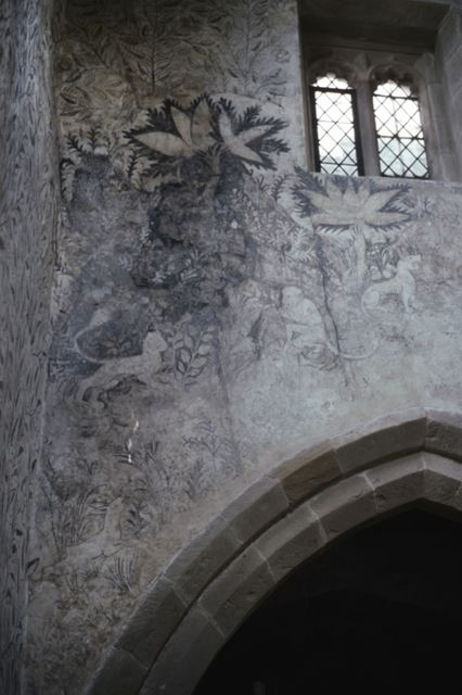 Wall painting in Chapel, Haddon Hall, c 2002