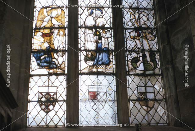North Window in Chapel, Haddon Hall, c 1969