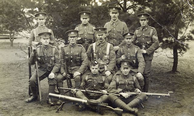 School of Musketry, Strensall, No 8 squad, 1917
