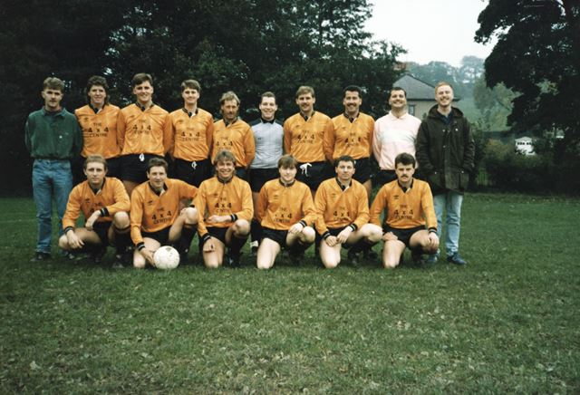 Football team, Holymoorside, 1980s
