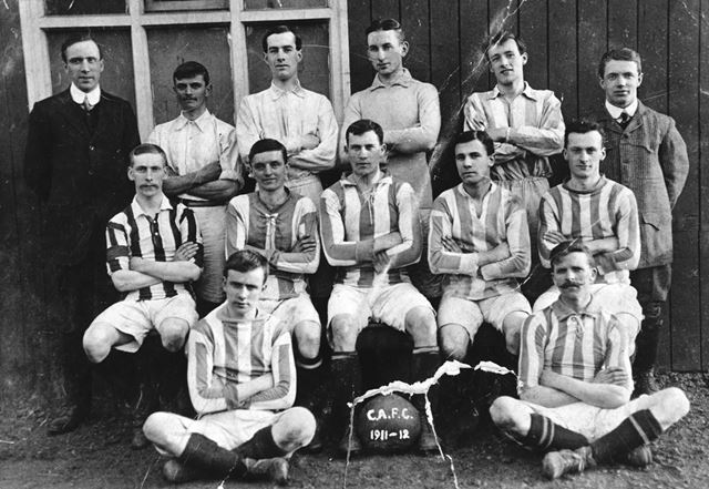 Unidentified football team, Chesterfield, 1911-12