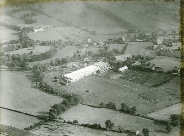 Aerial view of the Ferodo Works, Chapel en le Frith, 1924