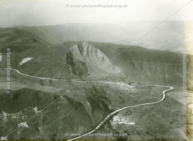 Aerial view of Mam Tor, Castleton, 1924
