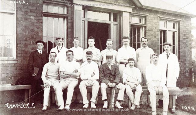 Chapel Cricket Club team, Chapel en le Frith, 1909