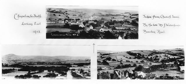 Three panoramic views, Chapel-en-le-Frith, 1912