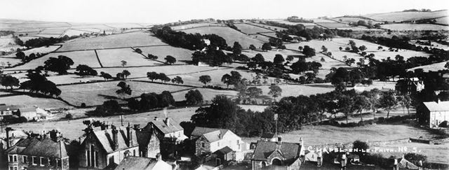 Panoramic view looking south, Chapel-en-le-Frith, 1912
