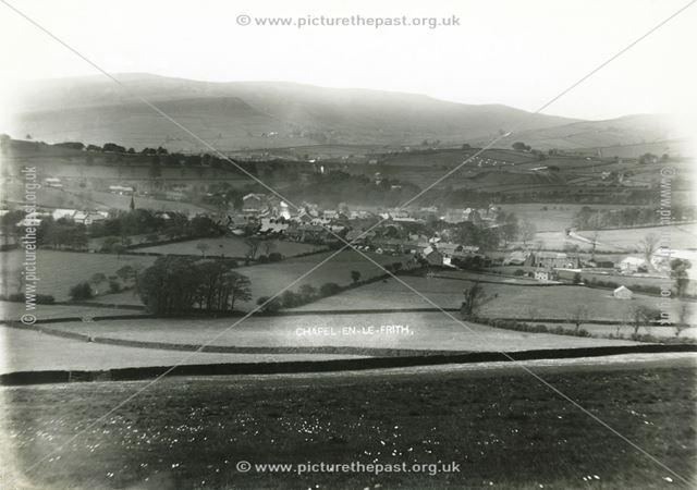 View from Ashbourne Lane, Chapel en le Frith, c 1900s
