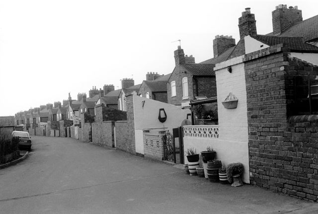 Rear of terraced houses, Linton Heath