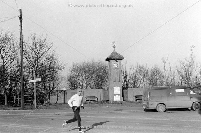 War memorial, corner of Main Street and Occupation Road, Albert Village, Swadlincote, 2002