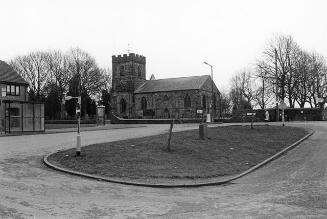 Church of St George and St Mary, from Castle Road, Church Gresley, 2002