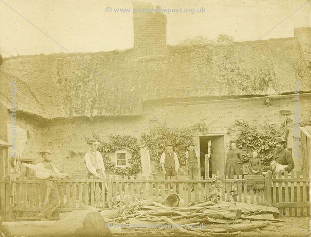 Mr Pickering's Cottage and Workshops, Kirk Langley, c 1850s