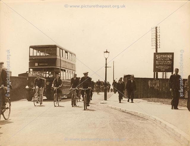 Sinfin Lane Bridge before widening