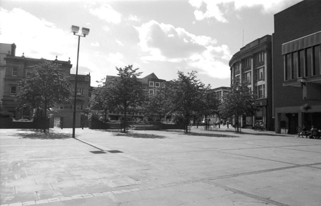 Market Place, Looking towards Irongate and the Derbyshire Building Society