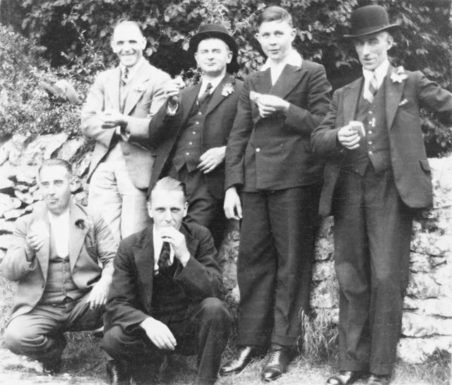 Haslam and Newton Ltd Works Outing, Conksbury Bridge, Lathkill Dale, c 1935