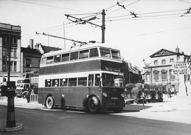 Derby Corporation trolley bus No.163