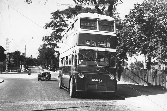 Derby Corporation trolley bus No.162