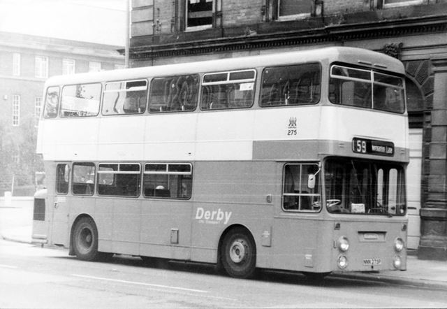 Derby Corporation motor bus No.275