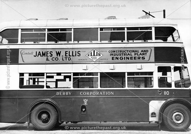 Derby Corporation motor bus No.110