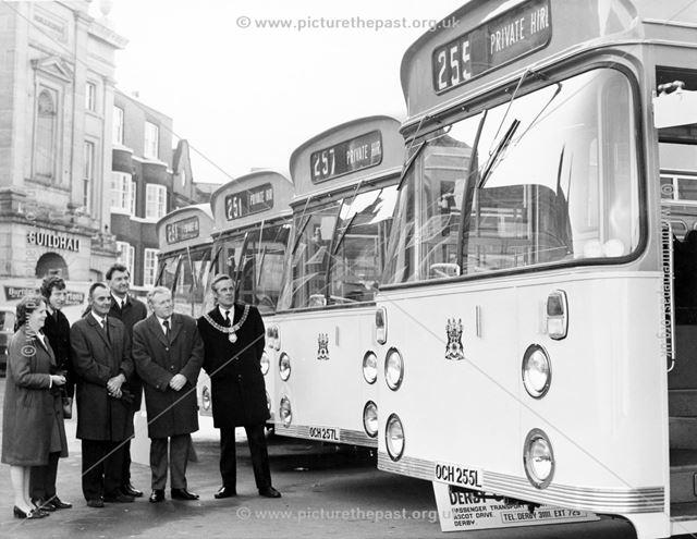 Derby Corporation single deck Daimler Fleetline motor buses